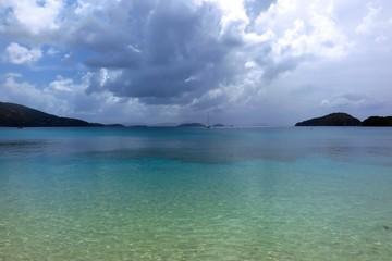 Storm clouds over Francis Bay, St. John, USVI, US Virgin Islands, Caribbean