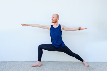 Yoga students showing different yoga poses