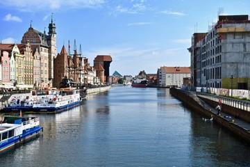 ポーランド グダンスク 旧市街 木造クレーン Poland Gdansk old town the Crane Polska Gdańsk zuraw
