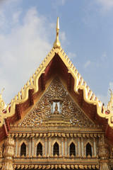 Temple de marbre. Wat Benchama Bophit. 1899. Bangkok. / Roof. Marble Temple. Wat  Benchamabophit Dusitvanaram Ratchaworawiharn. 1899. Bangkok..