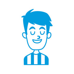 Man smiling with eyes closed icon vector illustration graphic design