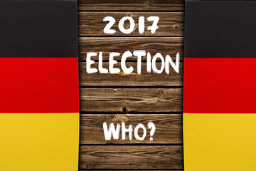 Election in Germany, 2017. political concept