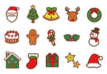 クリスマスのアイコンセット