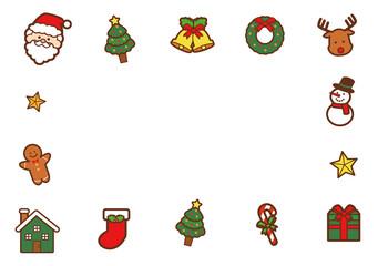 クリスマスのメッセージ素材