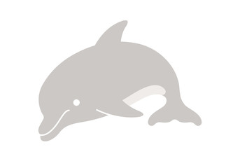 Dolphin Cartoon. Vector Illustration Of A Cute Cartoon Dolphin.