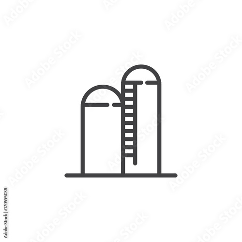 Silo line icon outline vector sign linear style pictogram isolated silo line icon outline vector sign linear style pictogram isolated on white symbol ccuart Images