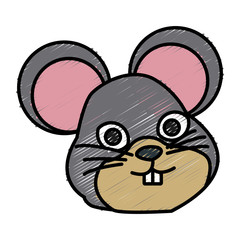 Cute mouse cartoon icon vector illustration graphic design