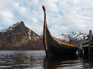 A viking ship (Drakkar) in Norway.