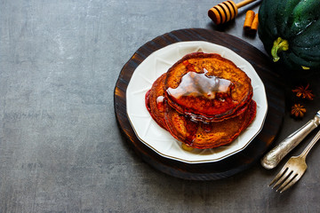 Spiced pumpkin pancake
