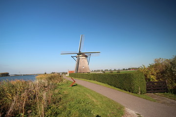 Windmill Nr. `1 of the  four-course Zevenhuizen