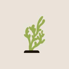 seaweed icon. vector illustration