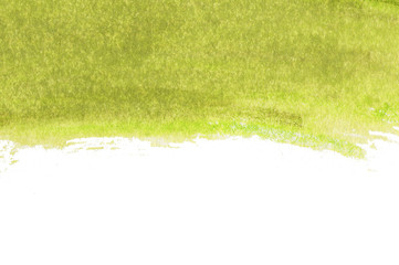 Abstract background of Green watercolor with space for text.