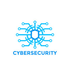 cyber security vector logo template