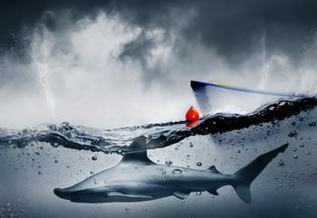 Concept business risque et danger