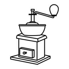 Coffee grinder isolated icon vector illustration graphic design