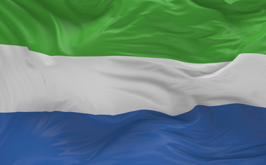 Flag of the Sierra Leone waving in the wind 3d render