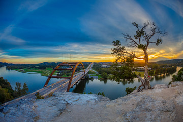 Photo sur Plexiglas Texas 360 Bridge Sunset