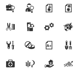 job search icon set