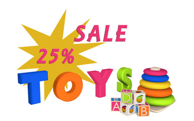 Schriftzug Sale 25% und Toys mit Lernspielzeug für Kleinkinder