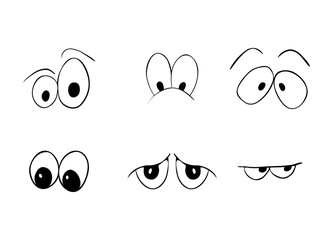 cartoon eyes vector symbol icon design. Beautiful illustration isolated on white background