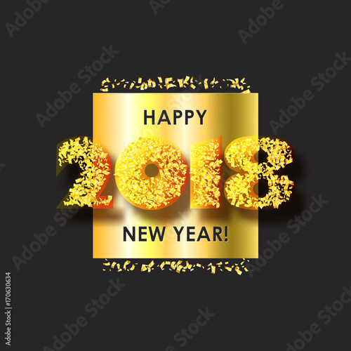 new year 2018 celebration background happy new year colorful digital type on black background with