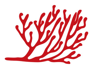 red algae silhouette vector symbol icon design. Beautiful illustration isolated on white background