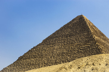 Pyramid of Cheops against the sky