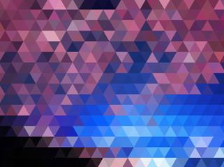 Light Pink Blue Low poly crystal background. Polygon design pattern.