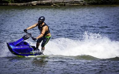 Riding Jet Ski