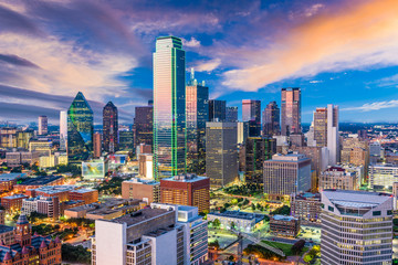 Dallas Texas Skyline Wall mural