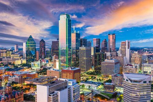 Fototapete Dallas Texas Skyline