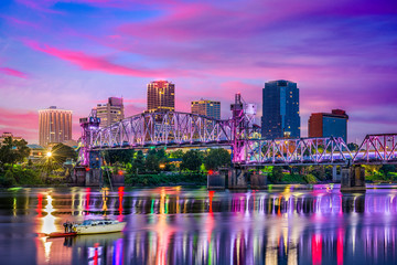 Fotomurales - Little Rock Arkansas Skyline