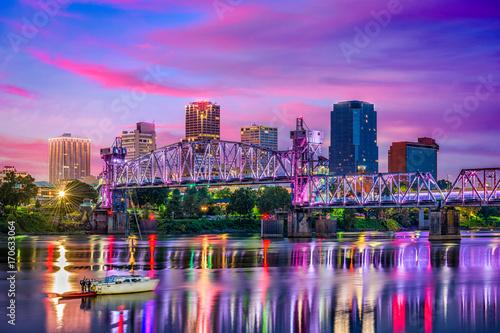 Wall mural Little Rock Arkansas Skyline