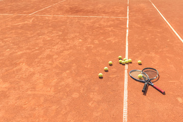 Necessary tennis equipment for game