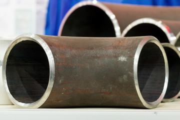 End faces of metal pipes.