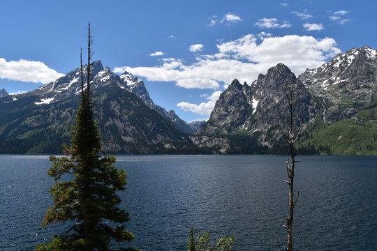 Jenny Lake And Mountains Grand Teton National Park Wyoming USA
