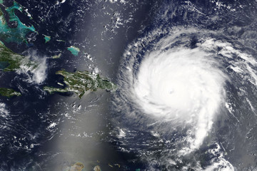 Hurricane Irma heading towards the Carribean Sea - Elements of this image furnished by NASA