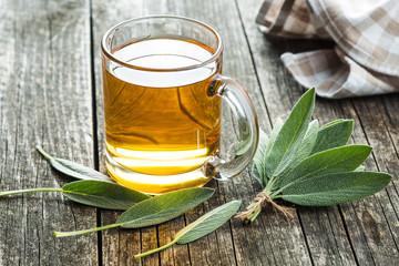 Fototapeta Sage tea and leaves. obraz
