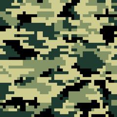 Digital pixel camouflage