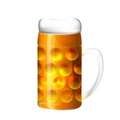 Beer. October fest. Greeting card from Munich