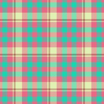 Pastel colored tartan checkered seamless pattern background