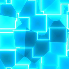 Light bright turquoise polygonal cubic lines wallpaper design