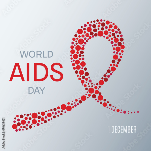 World Aids Day Awareness Poster Symbol Of Acquired Immune