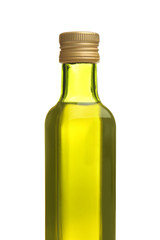 Bottle of cooking oil, isolated on white