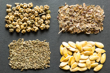 A set of organic seeds for natural farming.
