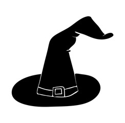 witch hat cartoon silhouette vector symbol icon design. Beautiful illustration isolated on white background