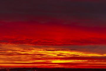 red sky in sinister sundown