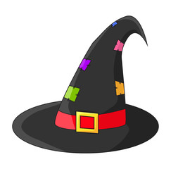 witch hat cartoon vector symbol icon design. Beautiful illustration isolated on white background