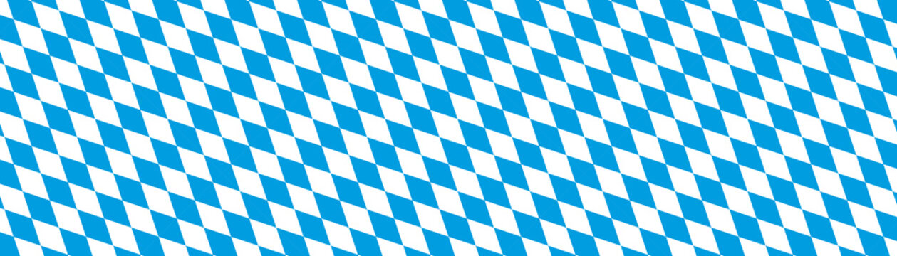 Oktoberfest Banner Hintergrund - Bayern, Rauten, Muster