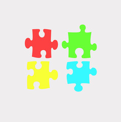 Colorful puzzle pieces icon